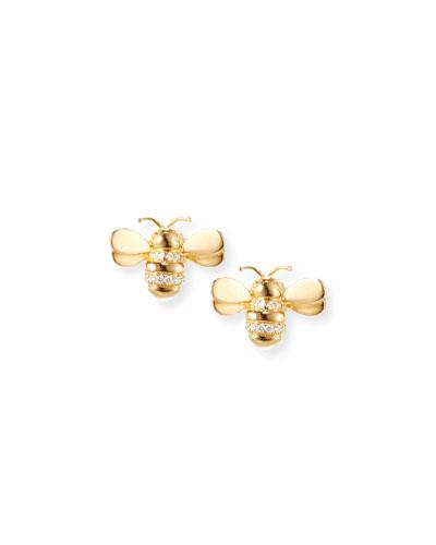 Wonderland Diamond Bee Earrings