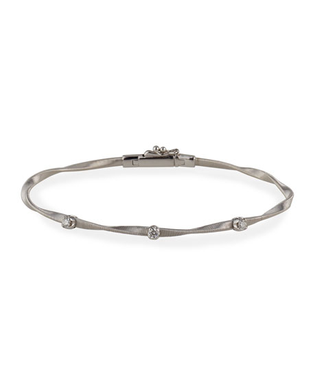 Marco Bicego Marrakech 18K White Gold Twisted Bracelet