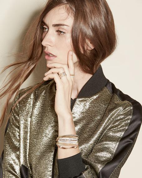 Marrakech Twisted 18K Rose Gold Bracelet with Diamonds