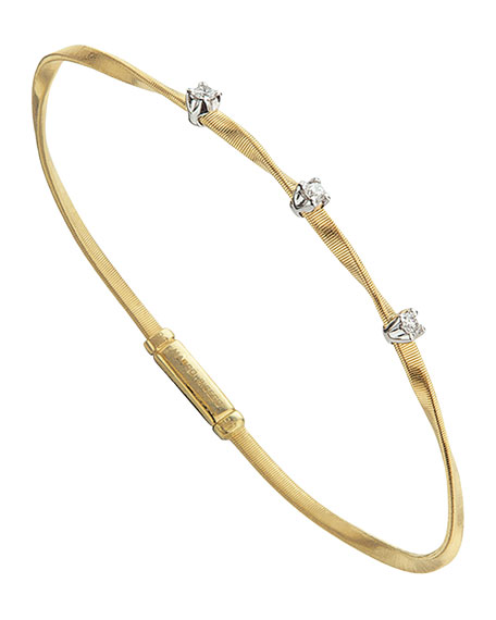 Marrakech 18K Yellow Gold Twisted Bracelet with Diamonds
