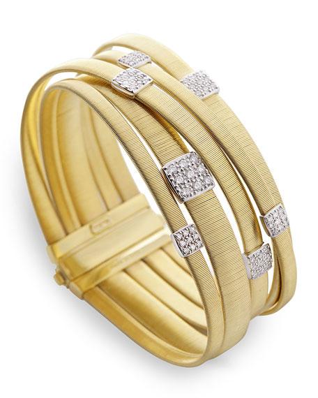 Masai 18K Gold Five-Row Bracelet with Diamonds