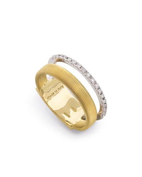 Masai 18K Ring with Diamonds, Size 7
