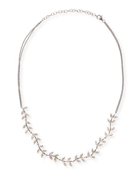 Siena Jewelry Diamond Leaf on Chain Necklace