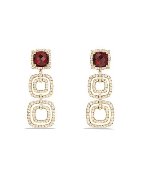 DAVID YURMAN Châtelaine Triple-Drop Garnet Earrings with