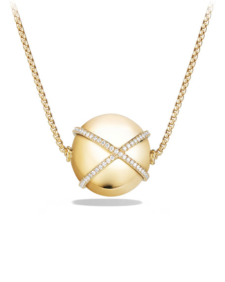 23mm Solari Ball Pendant Necklace with Diamonds