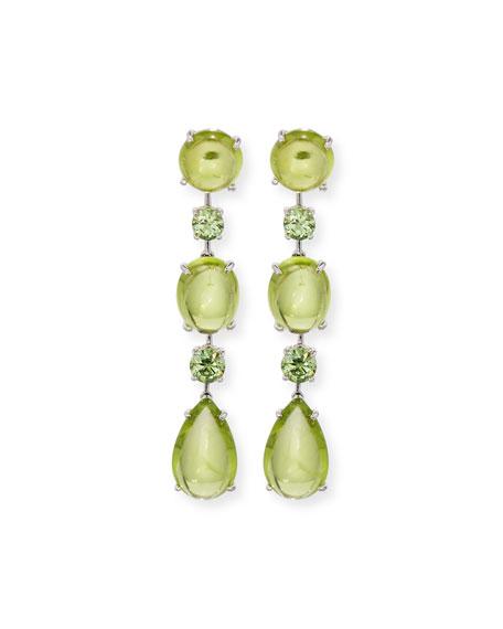 Peridot & Demantoid Garnet Drop Earrings