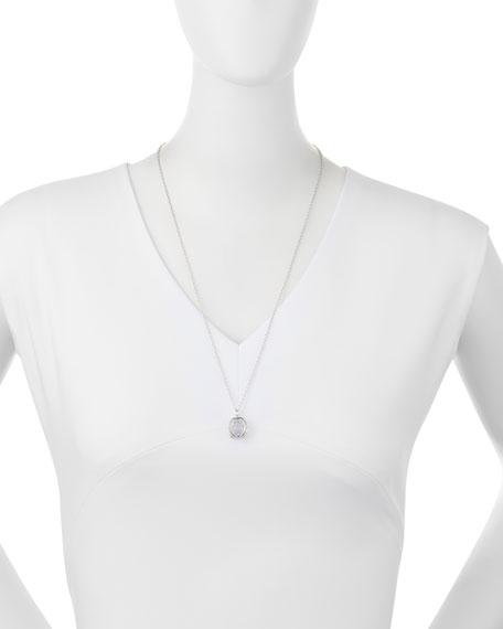"Small Silver Carpe Diem Pendant Necklace, 30""L"