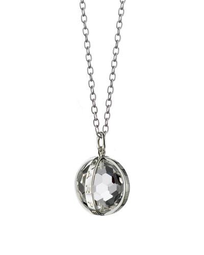 Small Silver Carpe Diem Pendant Necklace, 30