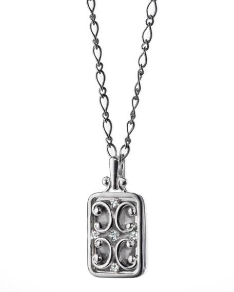 Rectangular Gate Locket Necklace