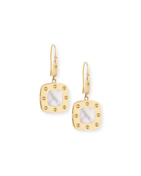 Roberto Coin Pois Moi 18k Mother-of-Pearl Dangle Earrings