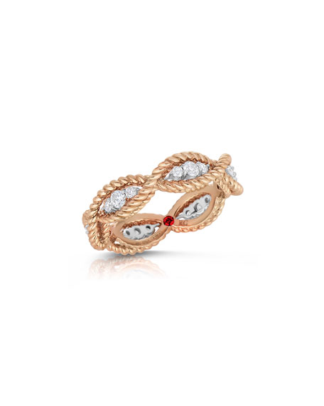Barocco 18k Diamond Band Ring
