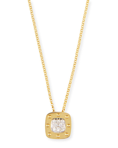 Pois Moi 18k Diamond Pendant Necklace