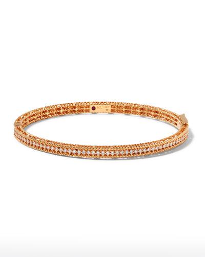 Symphony Collection 18K Rose Gold Princess Diamond Bangle