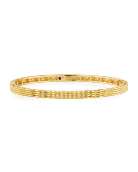 Roberto Coin Symphony Collection Gold Stacked Barocco Bangle in 18K Rose Gold
