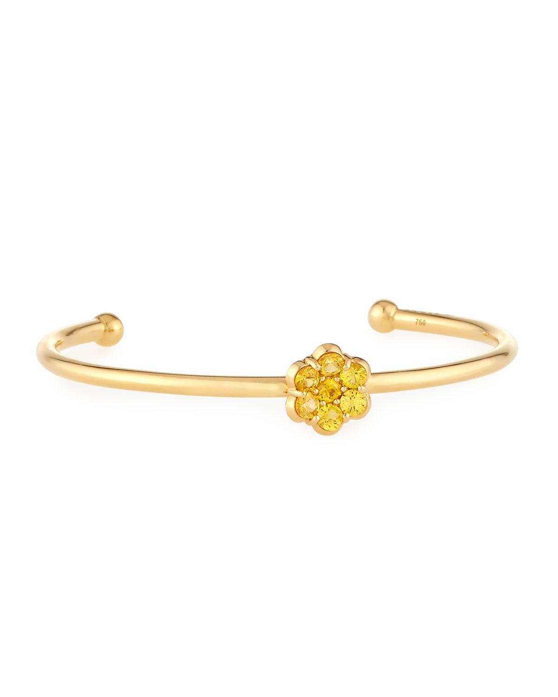 Bayco 18K Gold & Yellow Sapphire Flower Ring FeVO4LQ