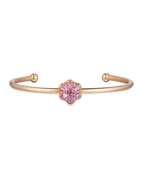 18K Rose Gold & Pink Sapphire Floral Bracelet