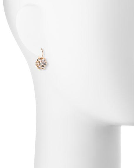 18K Rose Gold & Diamond Floral Drop Earrings