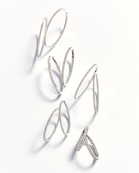 18K White Gold & Diamond Infinity Hoop Earrings, 2.75 tdcw
