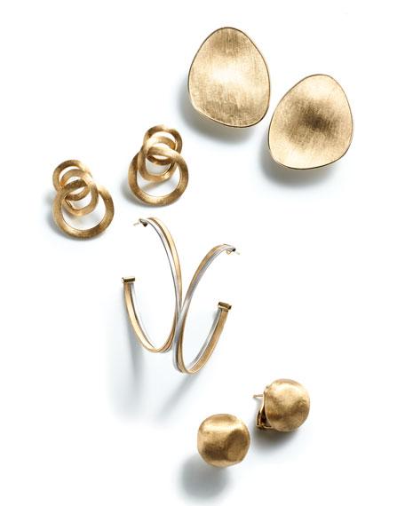 18K Yellow Gold Lunaria Earrings