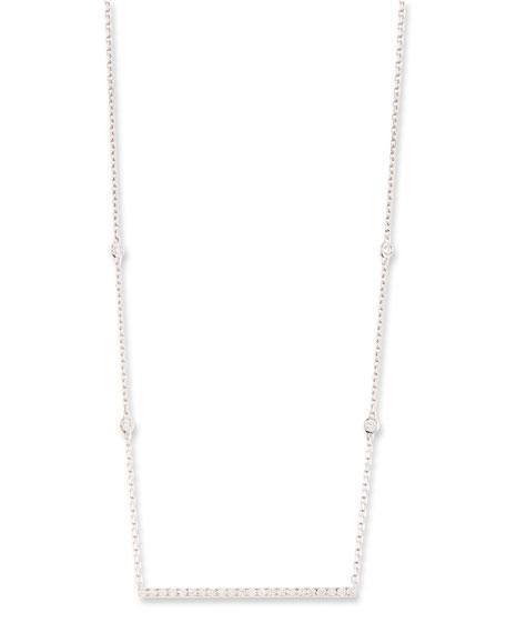 Gatsby Barrette Diamond Necklace in 18K White Gold
