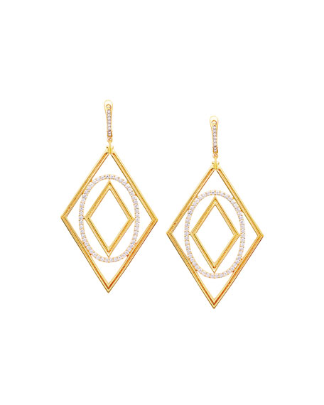 Affinity 18K Gold & Diamond Element Statement Earrings