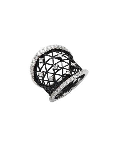 18k Moresca Openwork Ceramic Ring