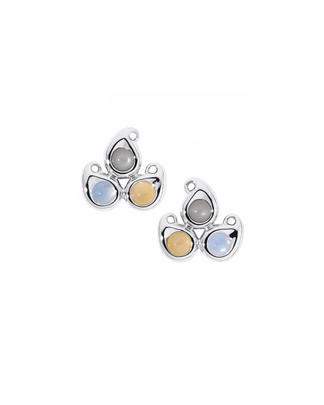 Tamara Comolli Paisley Moonstone Button Earrings in 18K