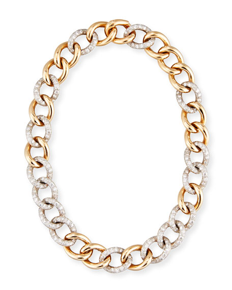 Tango 18K Rose Gold Link Necklace with Diamonds