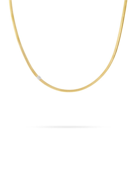 Masai 18K Single-Strand Necklace with Diamond Station