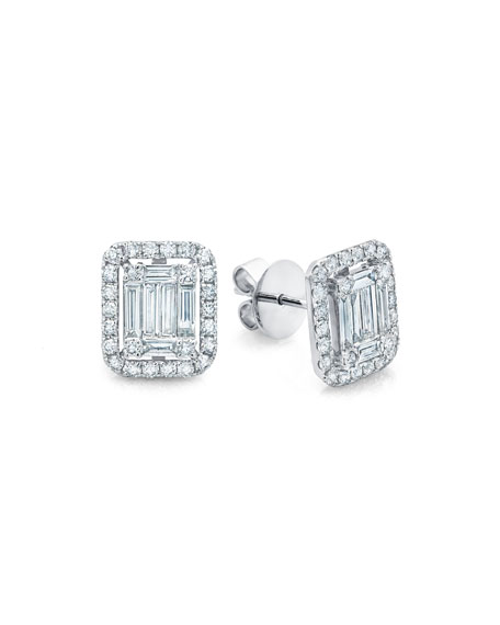 Ascension Diamond Baguette Stud Earrings
