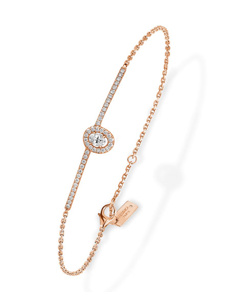 Glam'Azone Diamond Chain Bracelet in 18K Rose Gold