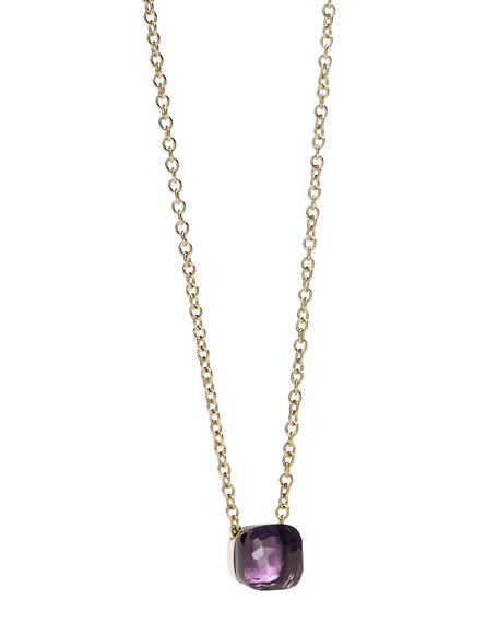 Nudo 18k Rose Gold Amethyst Pendant Necklace