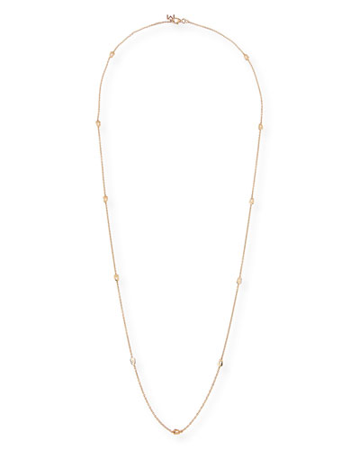 Puzzle Station Necklace in 18K Rose Gold, 33