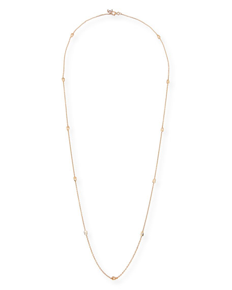 Puzzle Station Necklace in 18K Rose Gold, 33""