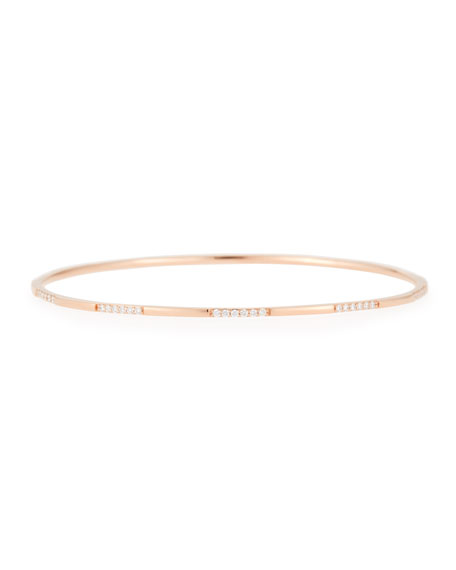 14K Rose Gold Expose Bangle with Diamonds