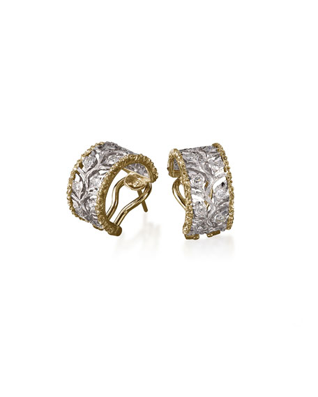 Ramage Diamond Huggie Earrings
