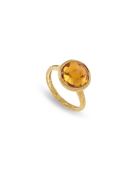 Jaipur 18K Faceted Round Ring, Size 7