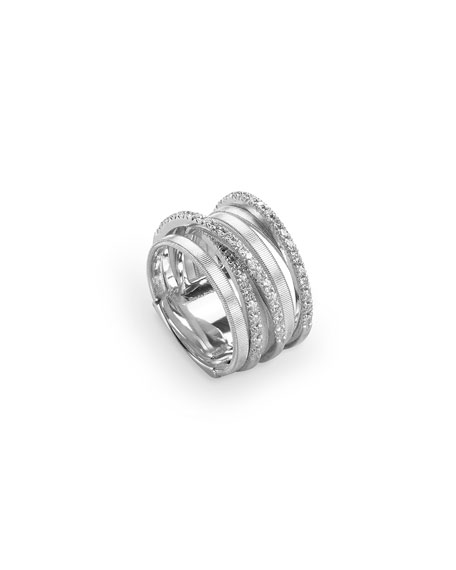 Marco Bicego Goa Stacked Seven-Row Crossover Ring with
