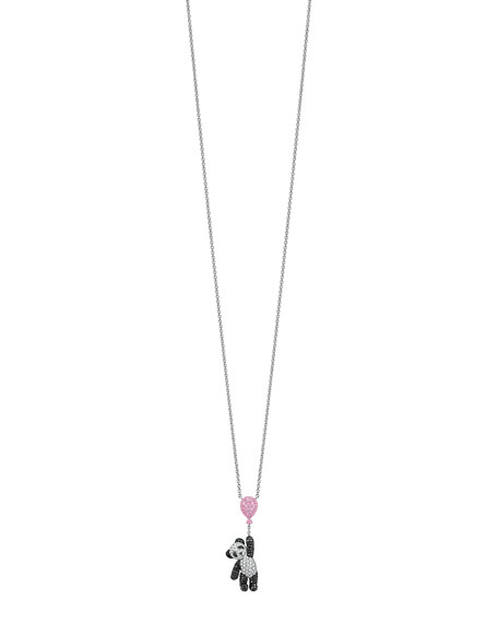 Small Classic Bobo Balloon Pendant Necklace with Diamonds & Pink Sapphires
