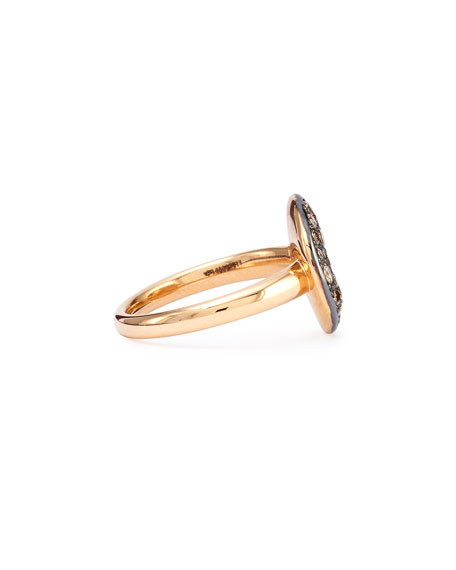 Sabbia Rose Gold & Brown Diamond Ring, Size 52