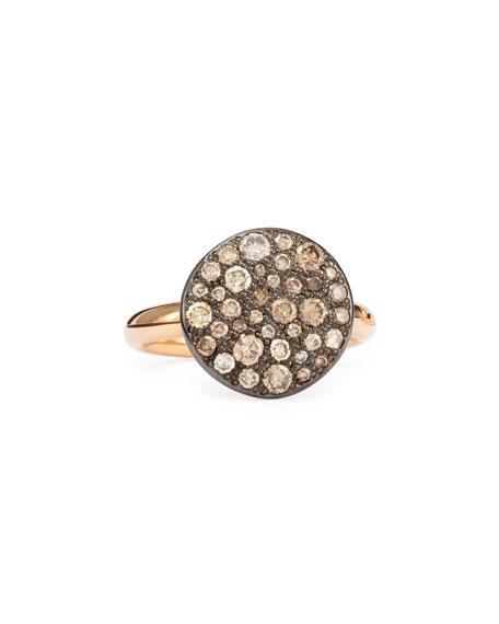 Pomellato Sabbia Rose Gold & Brown Diamond Ring,