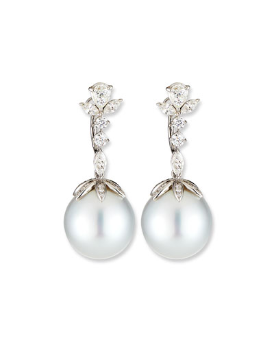 The Seaweed Pearl Drop Earrings