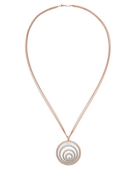 Happy Spirit 18k Two-Tone Diamond Long Pendant Necklace, 3.17tcw