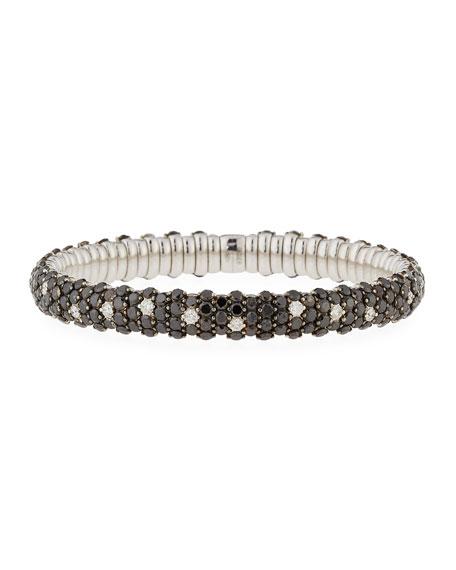 Carolyn tyler stretch black white diamond bracelet for Carolyn tyler jewelry collection