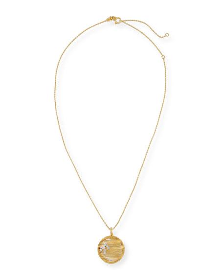 Renaissance Jolly Pendant Necklace with Diamonds