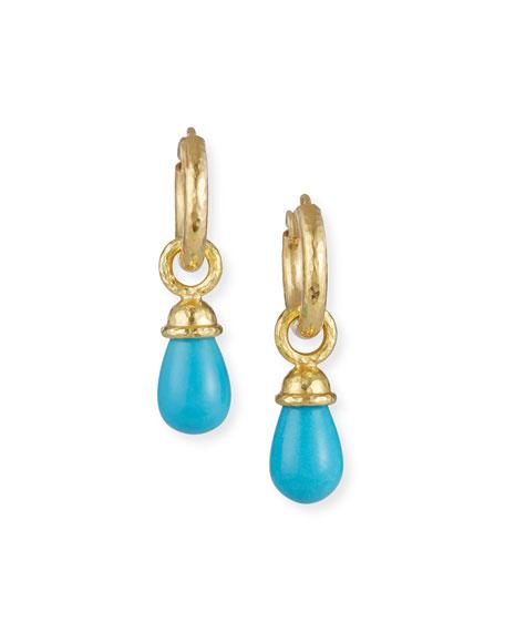 Elizabeth Locke 19k Turquoise Teardrop Earring Pendants