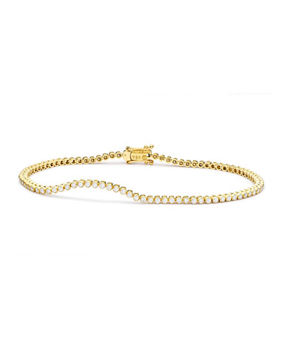 Diamond Stitch Bracelet in 18K Yellow Gold