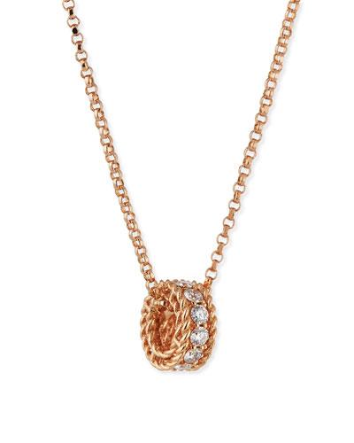 Symphony Collection 18K Rose Princess Diamond Pendant Necklace, 16
