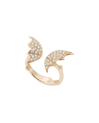 Fly by Night Split Wing Diamond Ring in 18K Gold