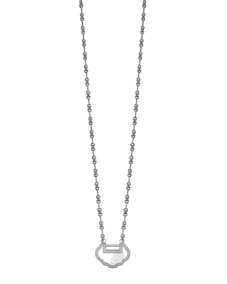 Small Yu Yi 18K White Gold Necklace with Diamonds
